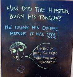 Coffee shop sign in Santa Cruz, CA