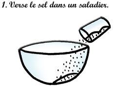 Recette de la pâte à sel : 1
