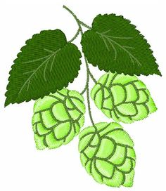 Bunch of Hops embroidery design