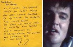 Elvis' Note - elvis-presley Photo
