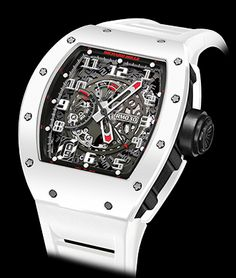 Cellini Jewelers Richard Mille RM 30 Automatic White Rush White ATZ Ceramic bezel  Black NTPT case