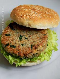 Tahini, Salmon Burgers, Hot Dogs, Hamburger, Vegan Recipes, Brunch, Pasta, Ethnic Recipes, Food