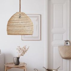 Hanging Light Fixtures, Hanging Lights, Ceiling Light Shades, Ceiling Lights, Living Room Lamp Shades, Rattan Pendant Light, Pendant Lights, Asian Lamps, Rope Lamp