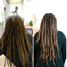 This is Josephin, she came to me to get some dreadlovin done. She had loads of loose hair around her dreadlocks that I crochet into place so her dreads and scalp will be happy and feel great again. =)