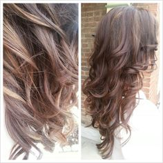 Hidden caramel highlights on a golden brown base. Preexisting red tones within the ends.