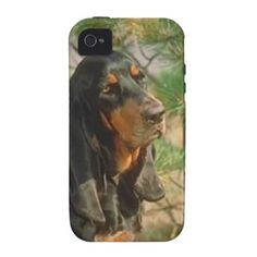 Black and Tan Coonhound dog iPhone 4 case