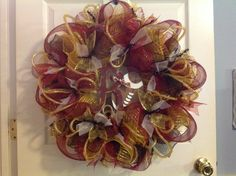 Washington Redskins deco mesh wreath