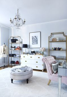 Oh to have a big walk in closet... it's the stuff that dreams are made of. But one look at Jenny Cipoletti of Margo & Me's inspiring fashion ensembles and this newly revamped closet +office space makes complete and total sense. It's