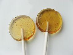 Sea salted caramel hard candy lollipops
