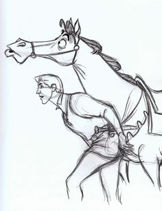 Prince Philip and Samson from Sleeping Beauty