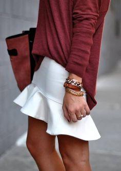 white+burgundy