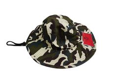 681e6ddfd4f Camo Aussie Safari Hat with Clear Plastic Pockets. K K Designer Pockets