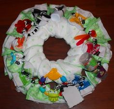 unique idea instead of a diaper cake.  I also like the diaper party instead of a baby shower for a mom having her second child- she may already have most of what she needs and this way she really stocks up on diapers.