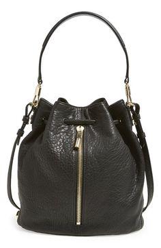 516e5ffa57 Elizabeth and James  Cynnie  Large Grain Leather Bucket Bag