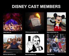 Disney Cast Members hahah so true! Disney Love, Disney Magic, Disney Stuff, World Happiness, List Of Memes, Disney Cast Member, Disney College Program, Make Em Laugh, Happy Year