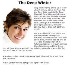 Paleta Deep Winter, Deep Winter Palette, Deep Winter Colors, Dark Winter, Skin Color Palette, Colour Combinations Fashion, Black Brown Hair, Seasonal Color Analysis, Color Me Beautiful