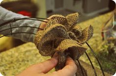 my pb+j: easy spring burlap wreath {diy tutorial}