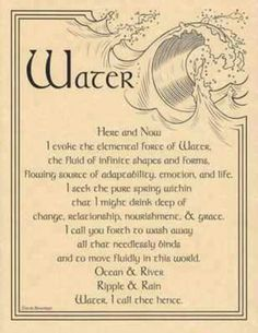 Wicca - water incantation