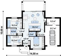 Z151 Проект одноэтажного особняка S3-109