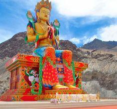 Krishna Bhagwan, Leh Ladakh, Maitreya Buddha, Travel Goals, Bike, Statue, Painting, Fictional Characters, News