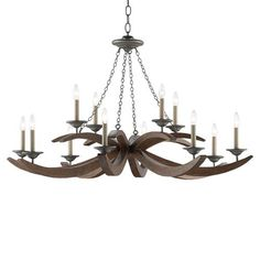 Shop the Morgan Rustic Lodge Wood Iron Candlelight Chandelier and other Chandeliers at Kathy Kuo Home Large Rustic Chandeliers, Eclectic Chandeliers, Iron Chandeliers, Cabin Lighting, Ceramic Table Lamps, Pendant Chandelier, Iron Wall, Farmhouse Design, Dark Wood