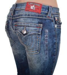 True Religion Womens Jeans Size 29 Slim Straight Big T with Red Bartack NWT $304 #TrueReligion #StraightLeg