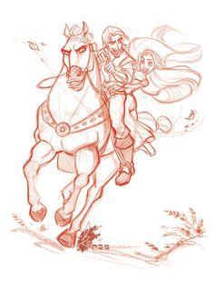 Tangled - Rapunzel + Flynn