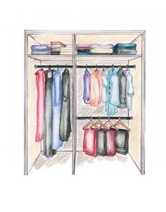 Cum sa compartimentezi interiorul unui dulap de haine - imaginea 3