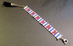 http://www.alittlemarket.com/boutique/thedreamfactory-88952.html Bracelet Lovely Sailor rayures et coeurs en perles Miyuki.