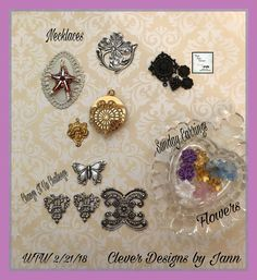WTW for 2/21/18 .. Working on several necklaces, Sunday Earrings and a Change It Up Challenge Design .. Clever Designs by Jann