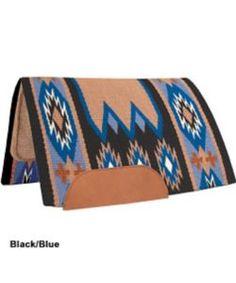 Mustang Laredo Navajo Wool Saddle Pad Black/Blue
