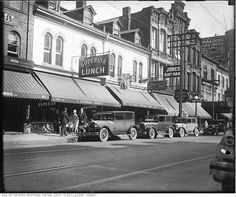 Yonge Street predates confederation by of a century. Here are some great Vintage Yonge Street pics from that show the changes. Visit Toronto, Toronto Ontario Canada, Toronto Street, Toronto City, Toronto Architecture, Hidden Art, Yonge Street, Canadian History, Landscape Photos
