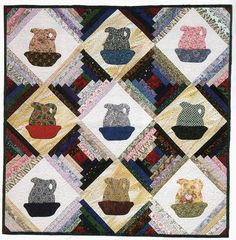 Log Cabin Quilt Pattern  http://quilting.about.com/od/quiltpatternsprojects/ss/log_cabin_quilt.htm#