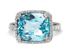 Fine aquamarine and micro pave set diamonds.