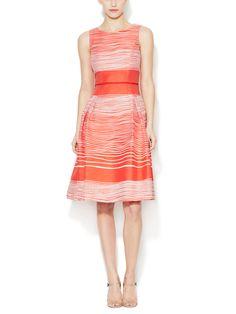 Cotton Striped A-Line Dress by Carolina Herrera at Gilt