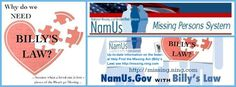 NamUs and Billy's Law Logo