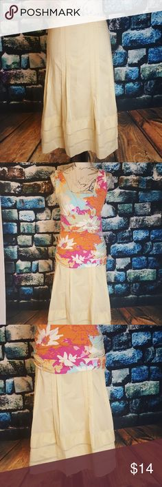 🌺🌺🌺Yellow skirt Good condition except for that the CAbi tag is falling off. Cute skirt and comfortable.🌺🌺🌺 bundle 3 for $25- check out my closet! CAbi Skirts