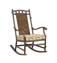 Chatham Run Resin Wicker Rocker With Cushions