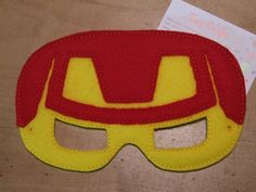 Ironman inspired felt mask for dress up or Halloween Costume Pretend Play Imagination Education party favor by TinyCrafts on Etsy Dress Up Closet, Felt Mask, Pretend Play, Iron Man, Party Favors, Imagination, Halloween Costumes, Crafting, Education