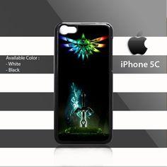 Rainbow Triforce Wing Legend of Zelda Sword iPhone 5c Rubber Case
