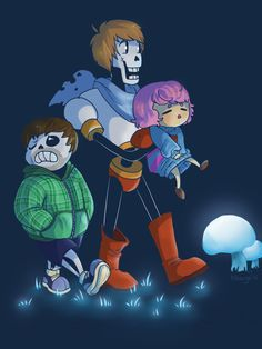 travelriot:  adventures with @commanderholly @rubberninja and Barry! This game is so lovely I love watching both of the Let's Plays with Holly and Barry   This is is what got me into Undertale <3Gotta love the grumps!