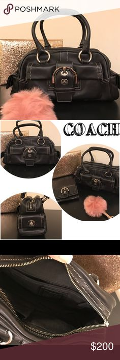 COACH *Authentic* purse Coach authentic handbag! Excellent condition, like new! Clean inside and out!! 👍 12 inches long, 6 inches to the start of the strap. No trades, firm price. Bundle and save💵!! Coach Bags Shoulder Bags