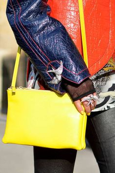 Leaping lizards - Street Chic - Paris Fashion Week - Discover More Street Style - ELLE