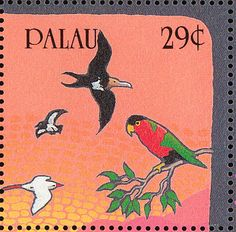 Red-tailed Tropicbird stamps - mainly images - gallery format