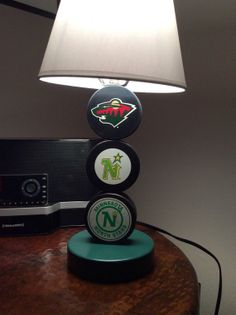 Minnesota Wild/ North Stars Hockey Puck Lamp by PuckinCrazyLamps, $65.00