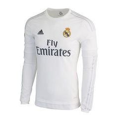9b9eb118d Adidas real madrid long sleeve home jersey 2015 16