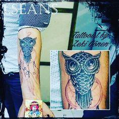 Owl tattoo baykus dövmesi  Antalya tattoo  Tattooist by zeki gönen