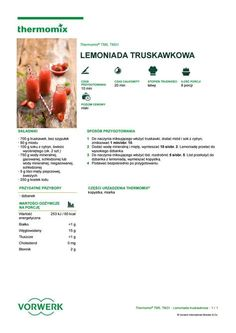 Lemoniada truskawkowa Polish Recipes, Sorbet, Make It Simple, Food And Drink, Fruit, Cooking, Party, Thermomix, Baking Center