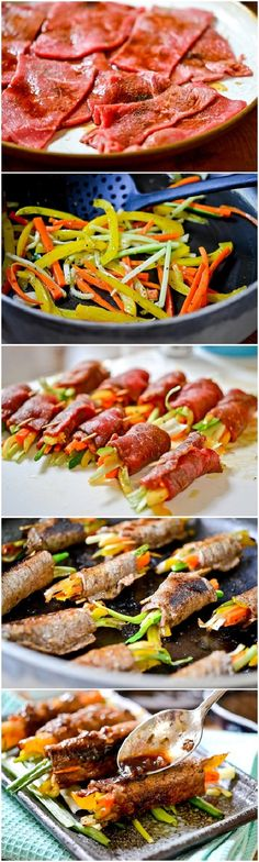 Balsamic Glazed Steak Rolls Recipe