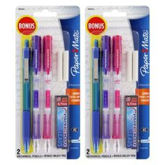 Paper Mate Clear Point Mechanical Pencil Starter Set, Assorted Colors, Set of 2 Justice School Supplies, Cool School Supplies, Office Supplies, Back To School List, Too Cool For School, School Stuff, Educational Supply Store, Writing Correction, Felt Tip Markers